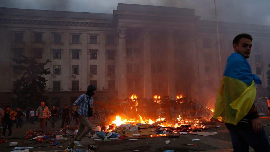 Decenas de muertos en el incendio de un edificio sindicial en la ciudad ucraniana de Odessa
