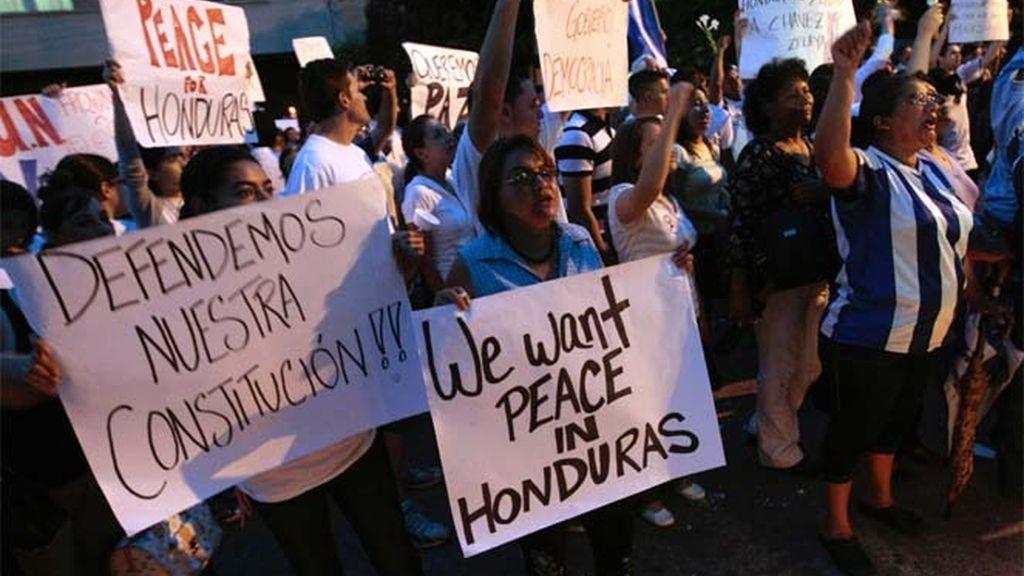 Los hondureños protestan