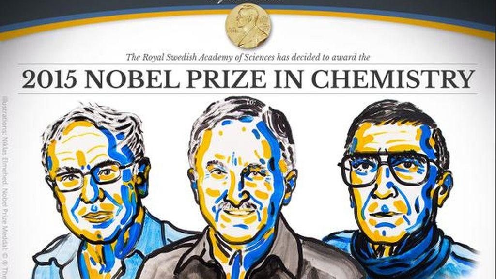 Los investigadores Tomas Lindahl, Paul Modrich, Aziz Sancar