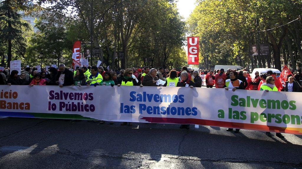 Protestas contra recortes de Rajoy. Foto: EFE