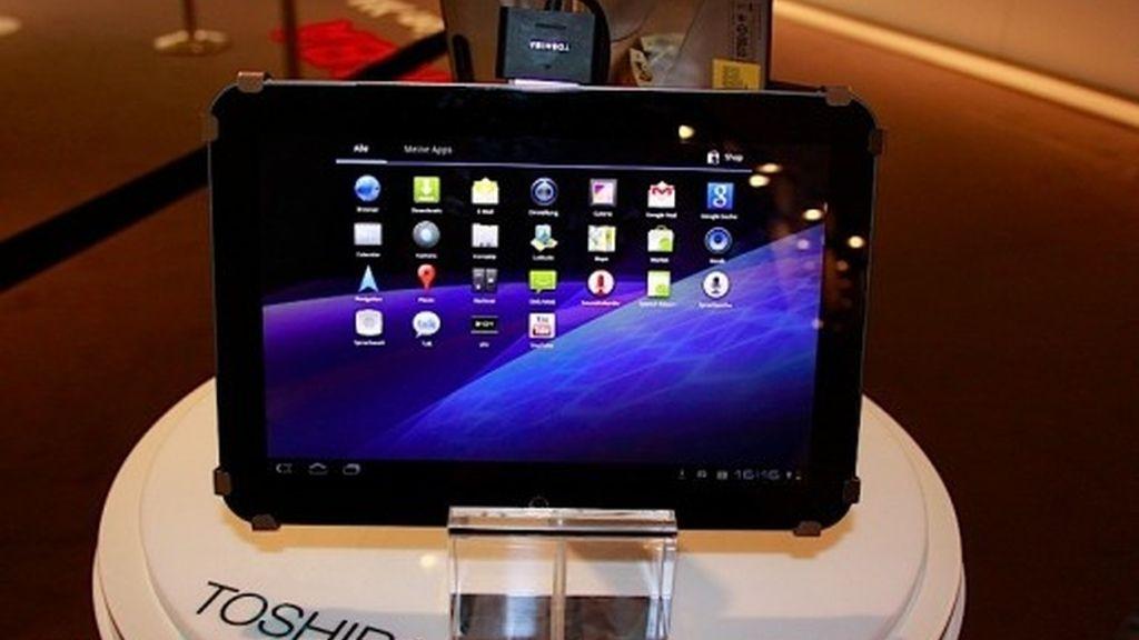 """La Toshiba AT200 sigue siendo la tableta de 10,1"""" más delgada y ligera del mercado, con un grosor de 7,7 milímetros y 535 gramos de peso."""