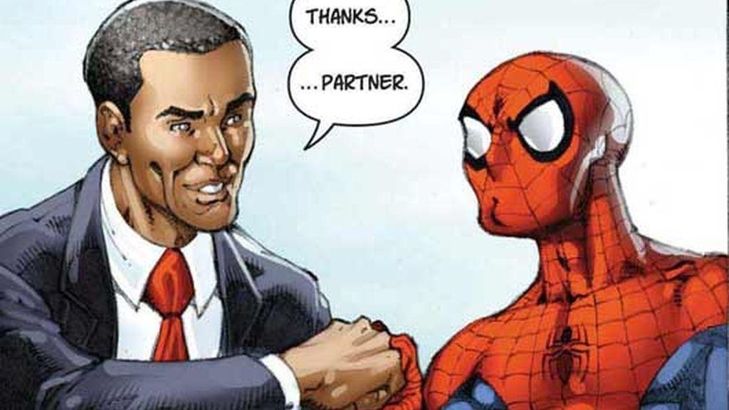 Obama se codea con Spiderman