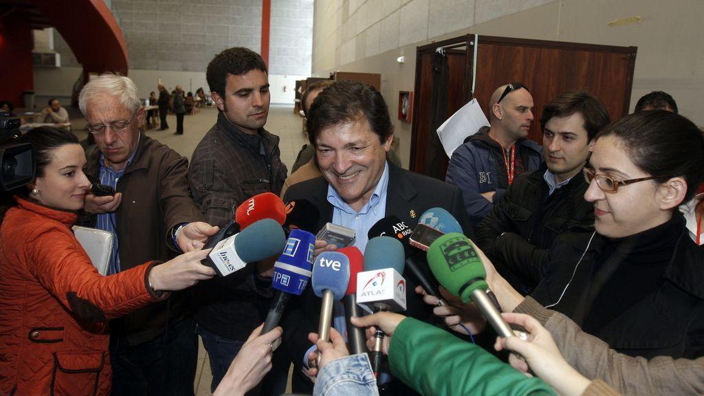 El candidato del PSOE a la presidencia del Principado de Asturias, Javier Fernández. Foto: EFE