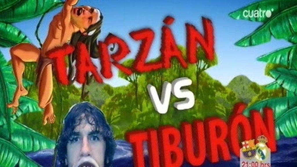Sergio Ramos 'Tarzán' frente a Puyol 'Tiburón'