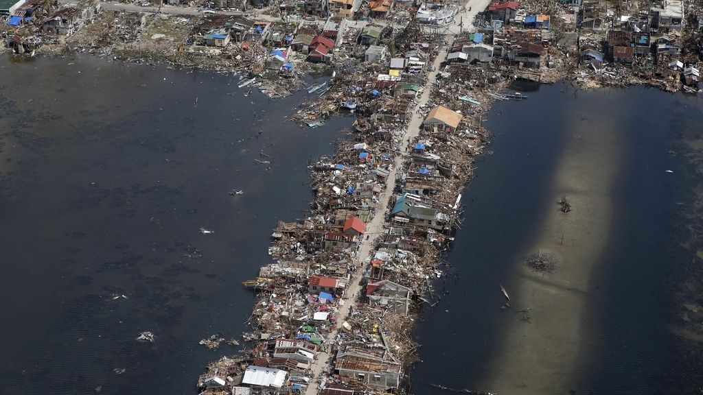 La provincia de Samar en Filipinas totalmente destruida