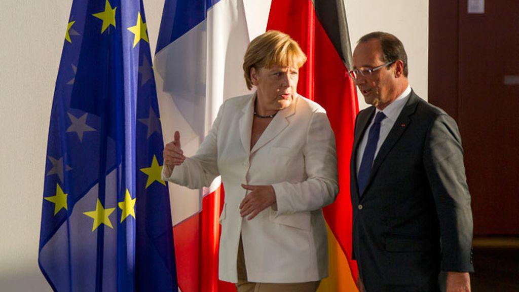 Angela Merkel se reúne con François Hollande en Berlín