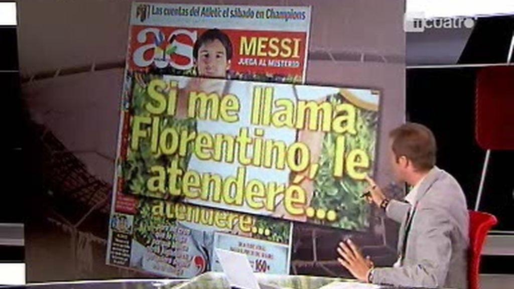 Messi ?Si me llama Florentino, le atenderé?