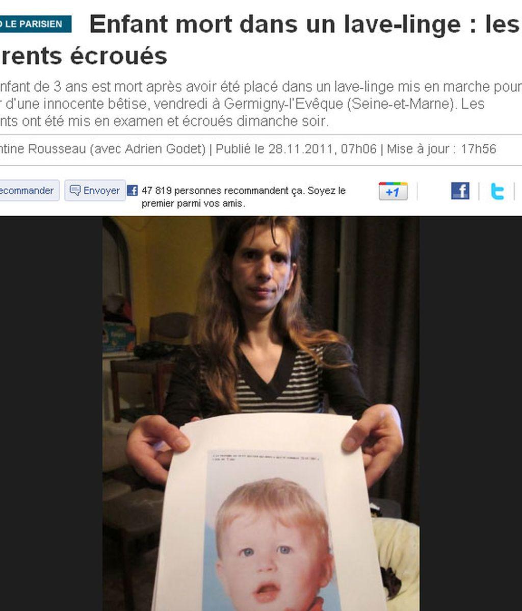 Mata a su hijo de tres años al meterlo en la lavadora por castigo