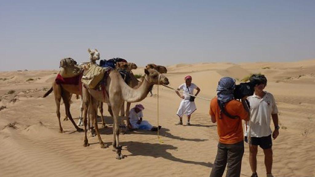 Un momento del rodaje en este Desafío Extremo en Omán