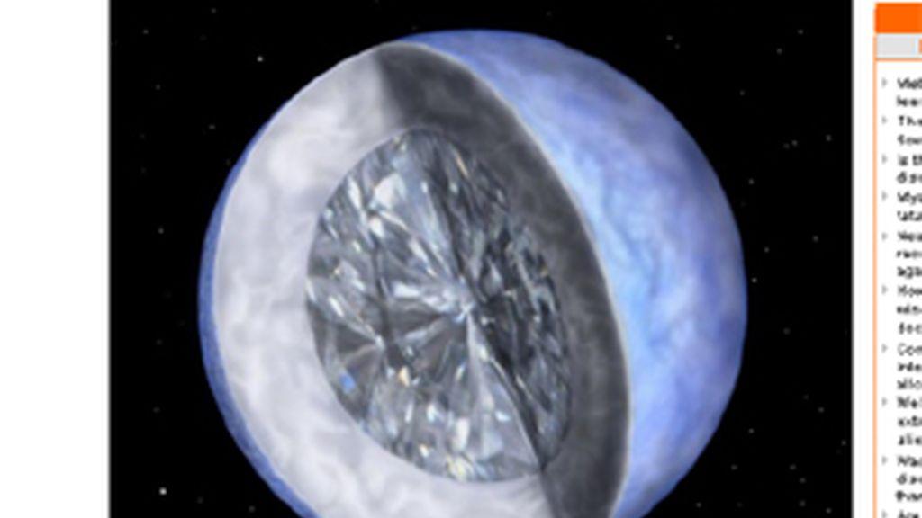 El planeta podría estar cuemposto por diamantes. Foto: The Telegraph