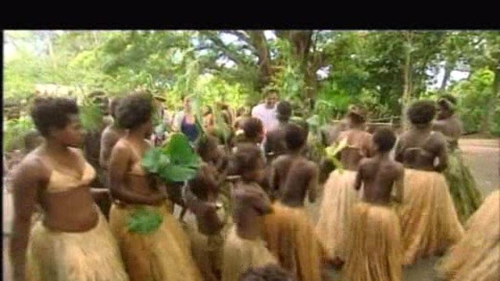 Los Moreno Noguera llegan al poblado de los Nakulamené