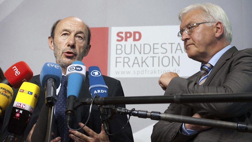 Alfredo Pérez Rubalcaba y Frank-Walter Steinmeier
