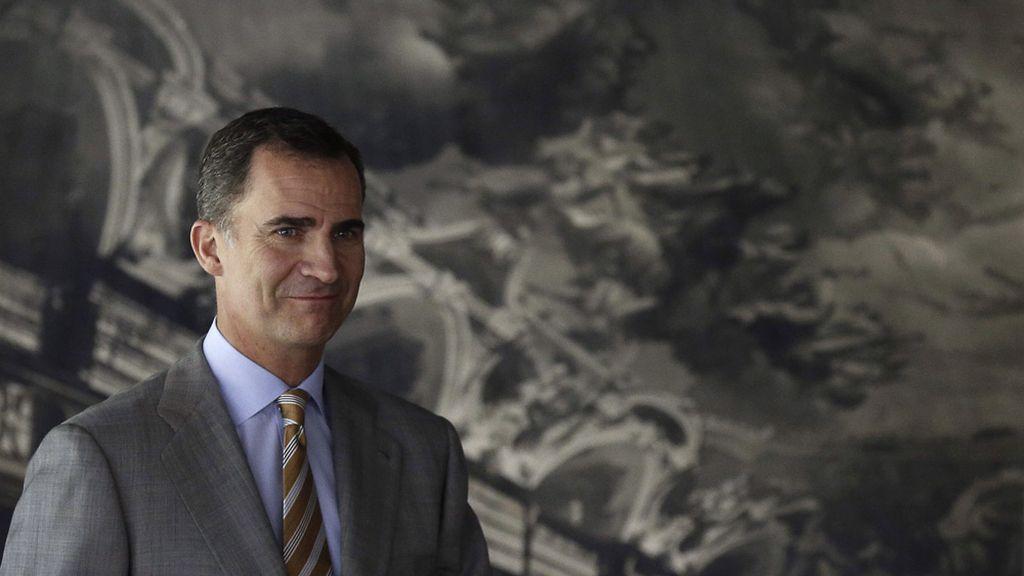 El Príncipe de Asturias durante el acto central conmemorativo del centenario del Instituto Español de Oceanografía