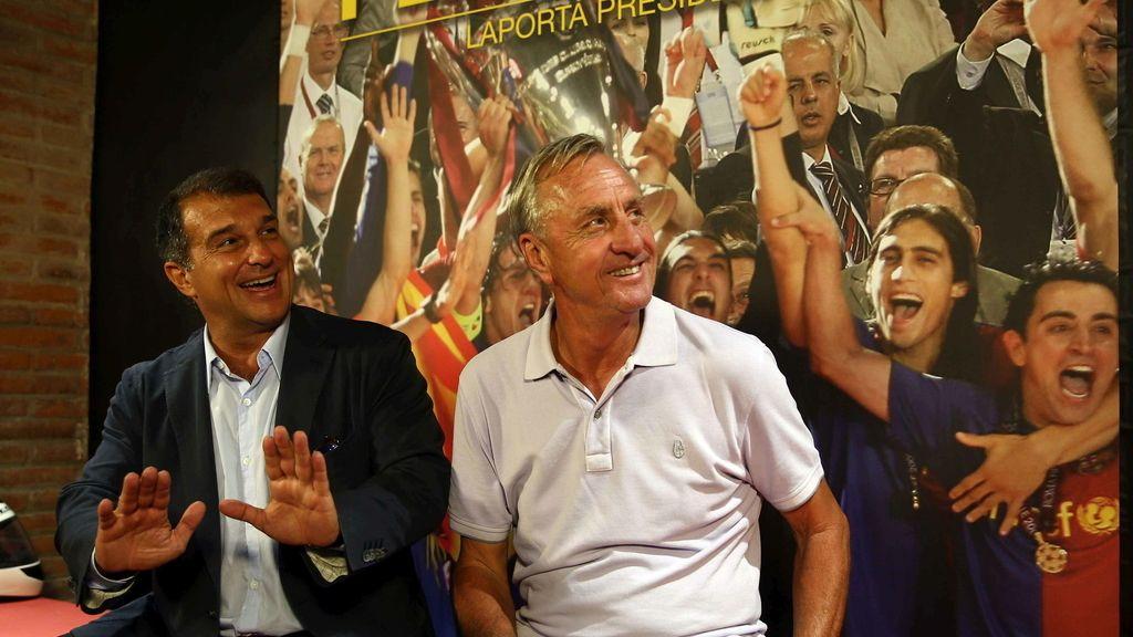 Joan Laporta y Johan Cruyff