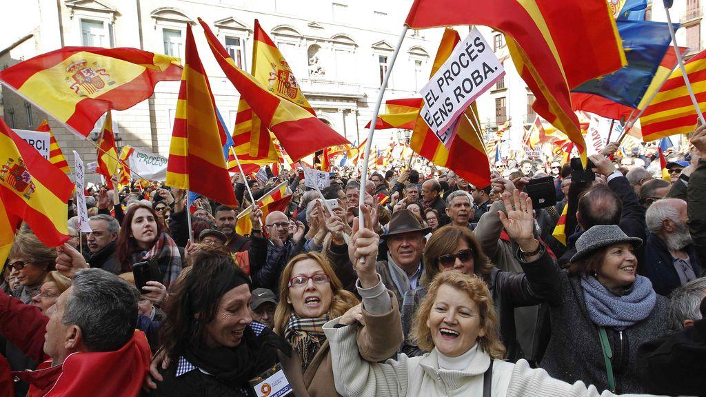 Manifestación contra la independencia en Cataluña
