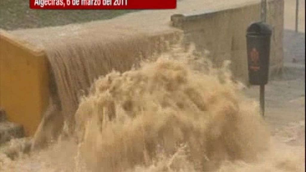 Tromba de agua en Algeciras