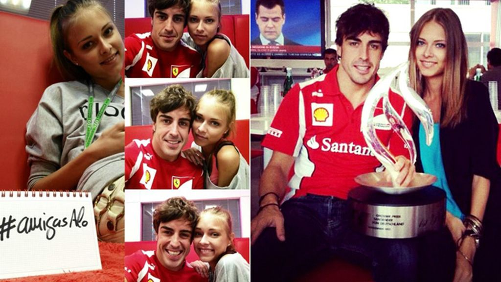 Alonso y su nueva novia
