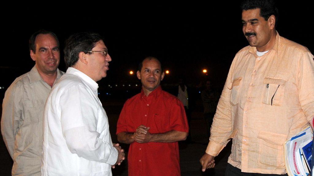 Maduro llega a La Habana para visitar a Chávez. Foto: EFE