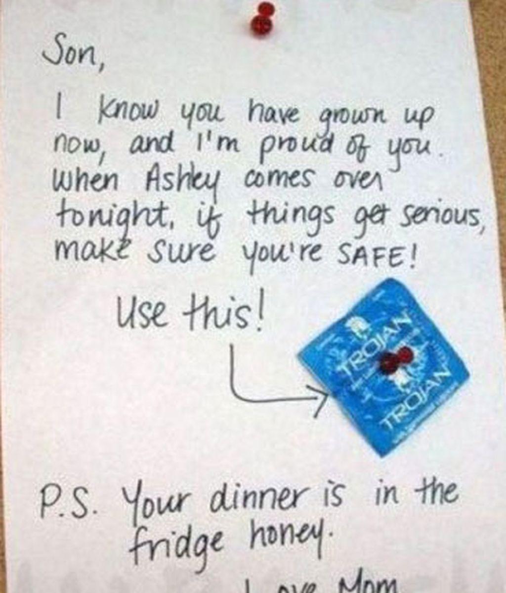 Una madre preocupada deja un condón a su hijo para una cita pero ¡algo falla!