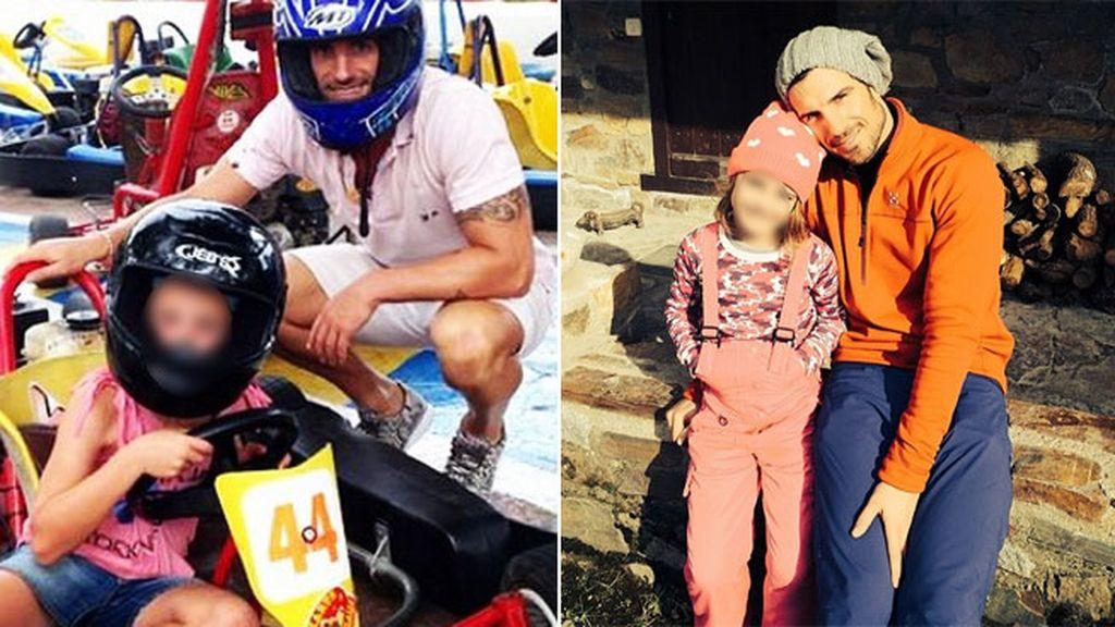 Aitor Ocio con su hija en Instagram