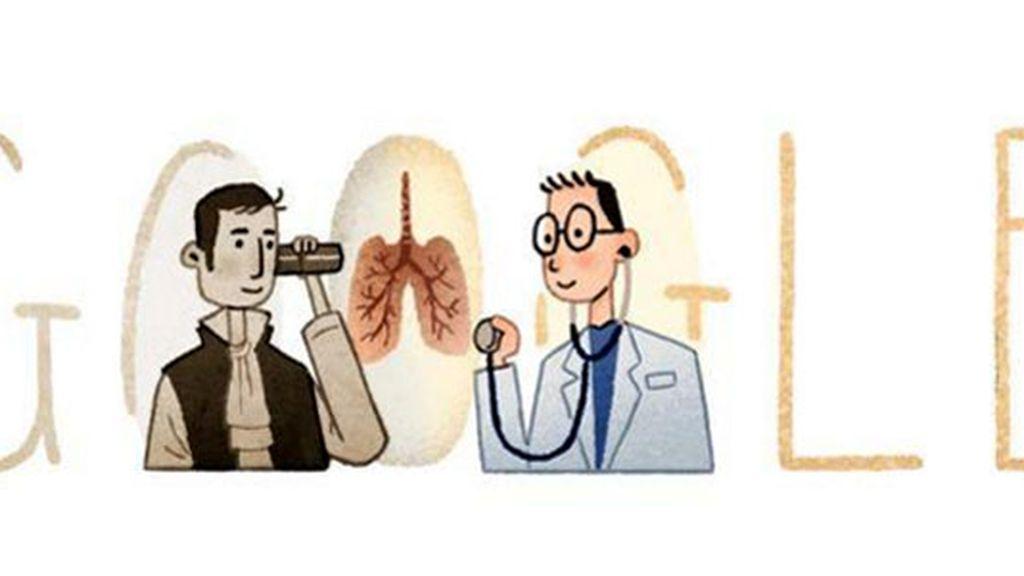Google doodle, René Théophile Hyacinthe Laënnec, René Laënnec