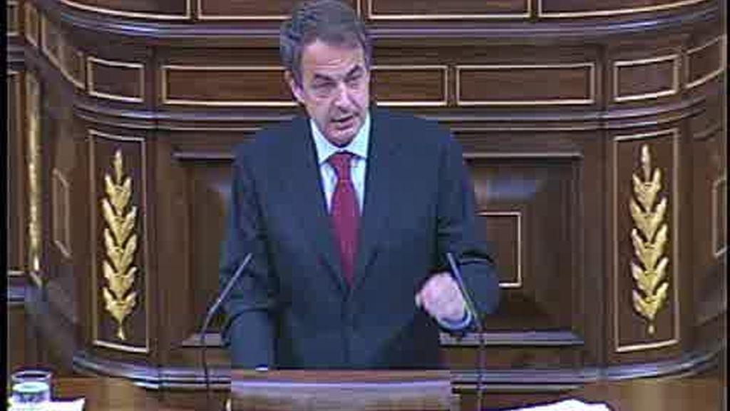 Zapatero pide el aval del Congreso