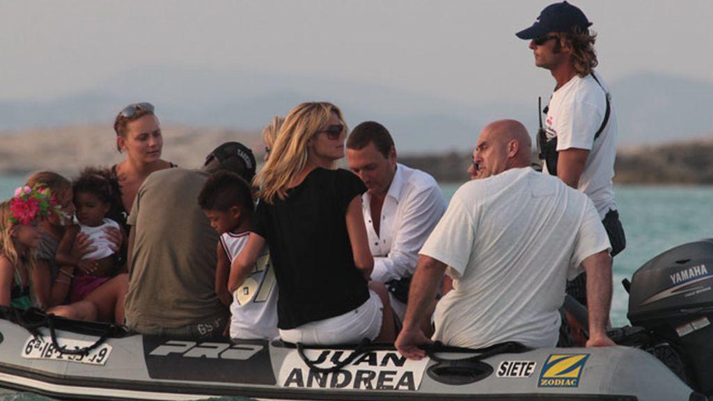 Heidi Klum y Seal, en Ibiza con los críos