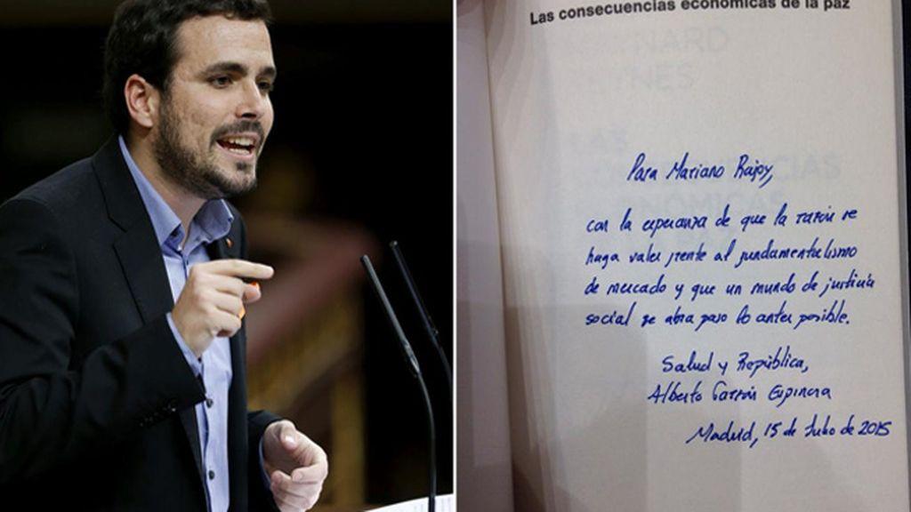Garzón regala a Rajoy un libro de Keynes sobre las consecuencias de humillar a los pueblos