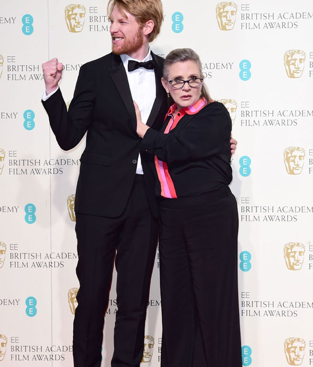 Domhnall Gleeson y Carrie Fisher