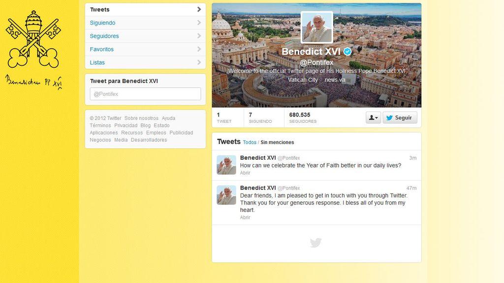 El primer tuit del Papa