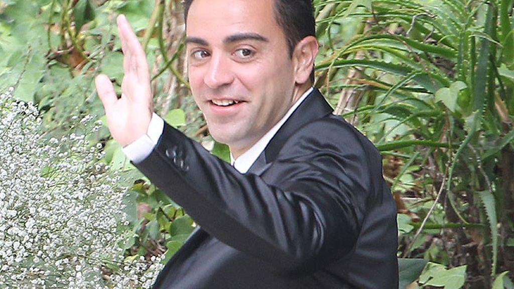 Xavi Hernández acudió sin su chica a la boda