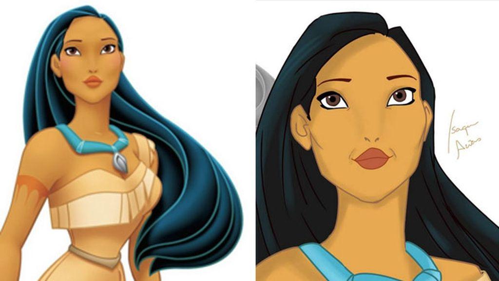 Apenas unas arrugas nos indican que Pocahontas (1995) ya tiene 38.