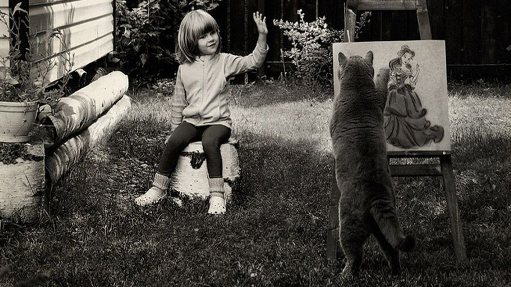 Katherine y su gato