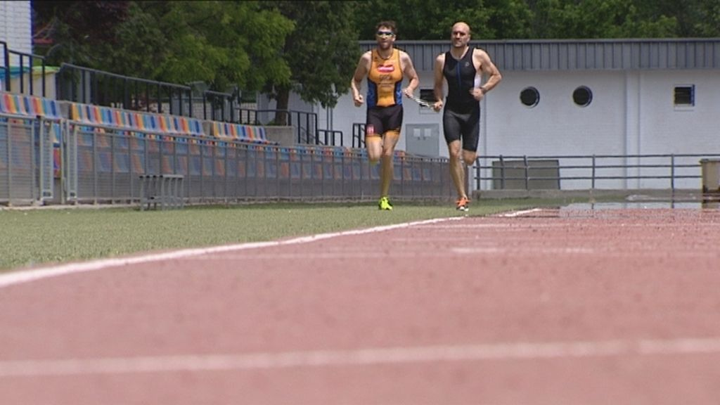 triatlón,ciego,correr,superación por
