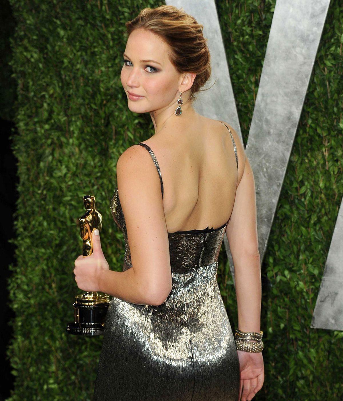 Jennifer Lawrence en la fiesta de Vanity Fair posterior a los Oscar 2013