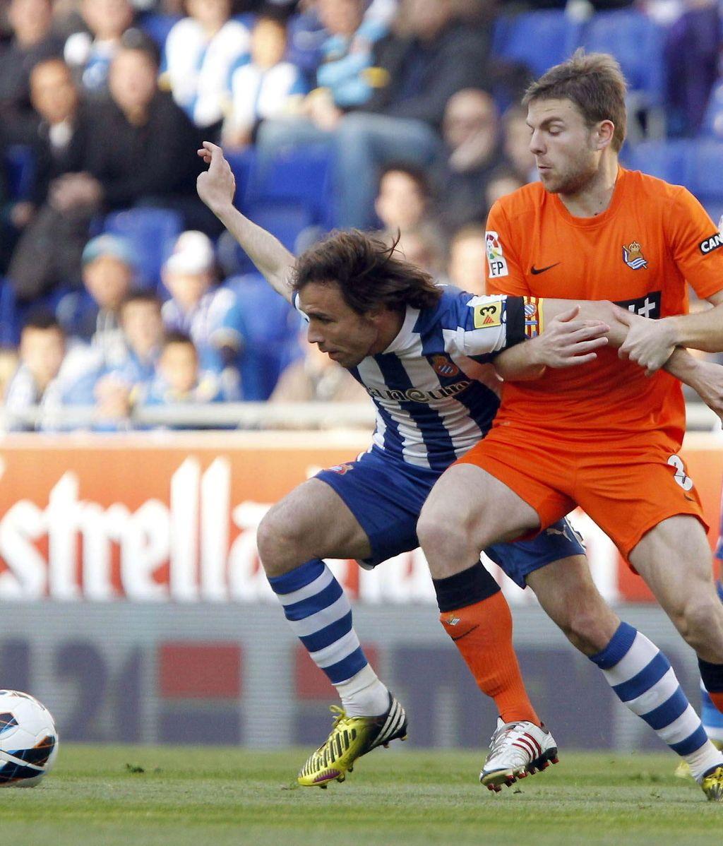 El Espanyol se enfrenta a la Real Sociedad. Foto: Efe