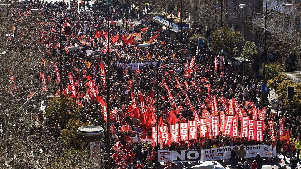 España marcha contra la reforma laboral