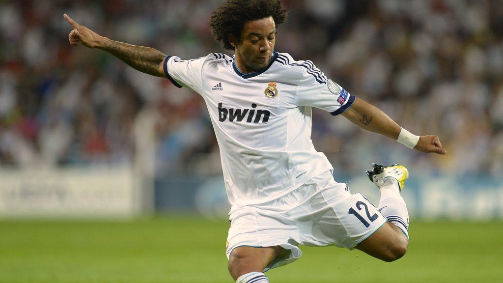Marcelo  durante el partido de Liga de Campeones ante el Manchester City