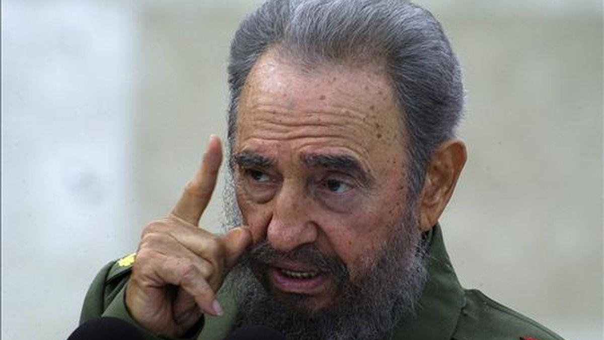 En la imagen el ex presidente de Cuba Fidel Castro. EFE/Archivo