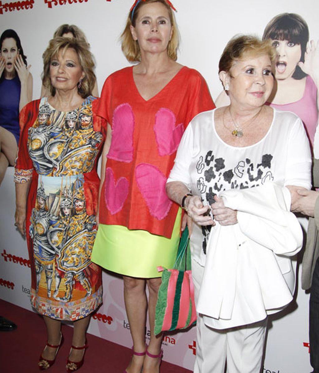 María Teresa Campos, Agatha Ruiz de la Prada y Lina Morgan