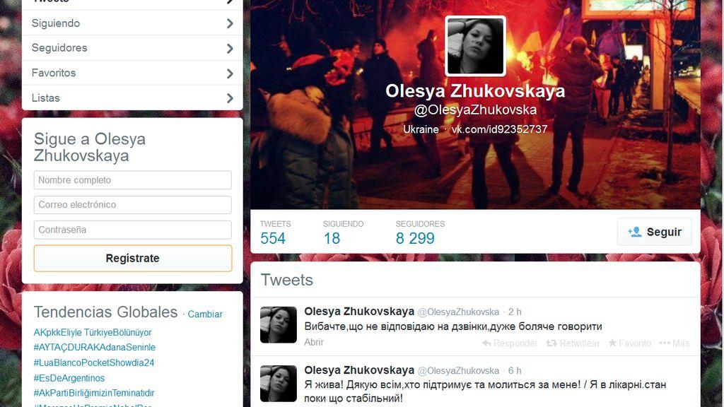 Twitter de Olesya Zhukovskaya