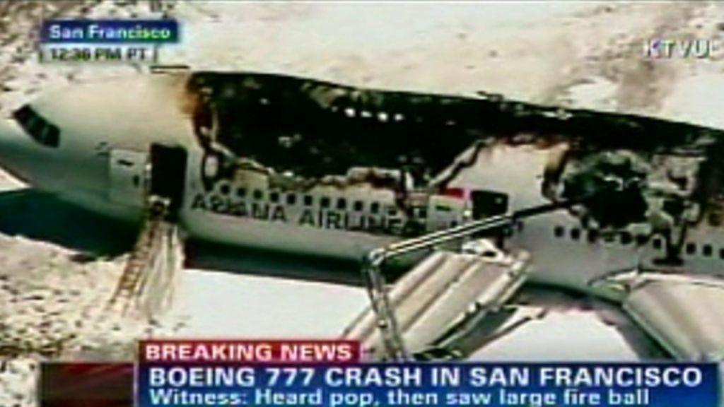 Accidente de avión en San Francisco