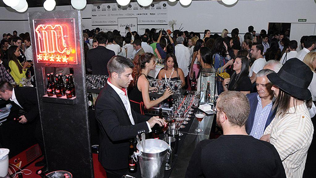 El Kissing Room estaba lleno de incondicionales que podían beber desde zumos sin alcohol hasta elaborados cócteles