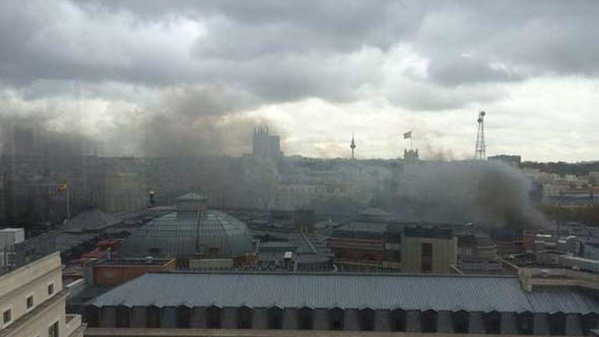 Incendio en el Banco de España