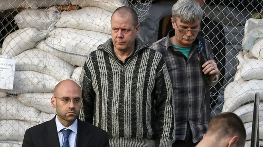 Los prorrusos liberan por motivos médicos a uno de los observadores detenidos