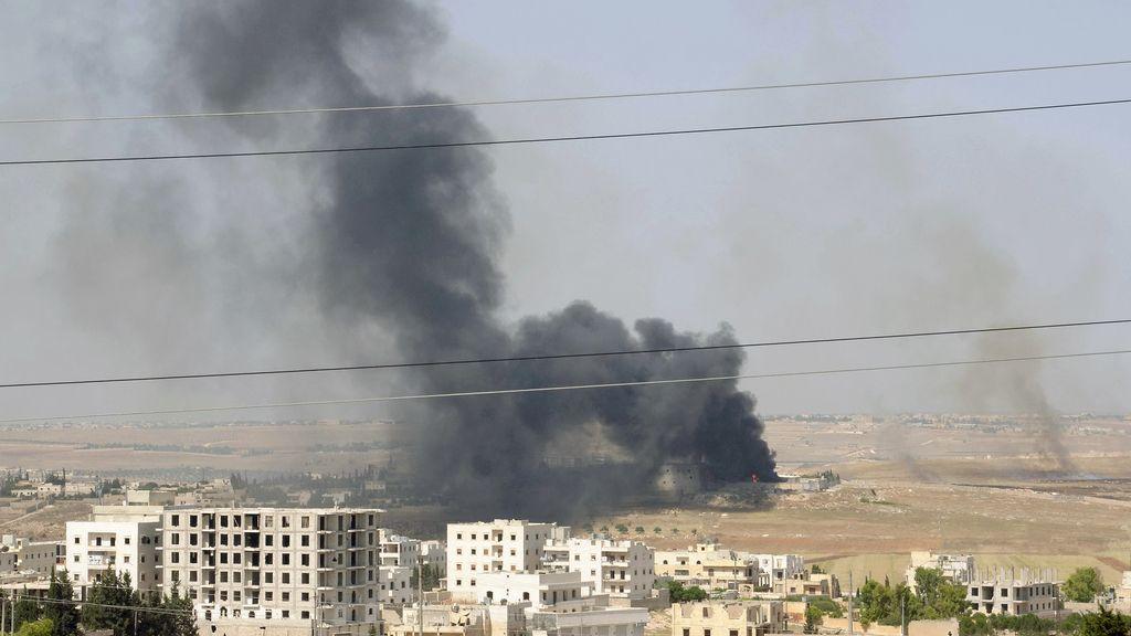 Un misil disparado por las fuerzas del régimen deja 26 muertos en la provincia de Alepo