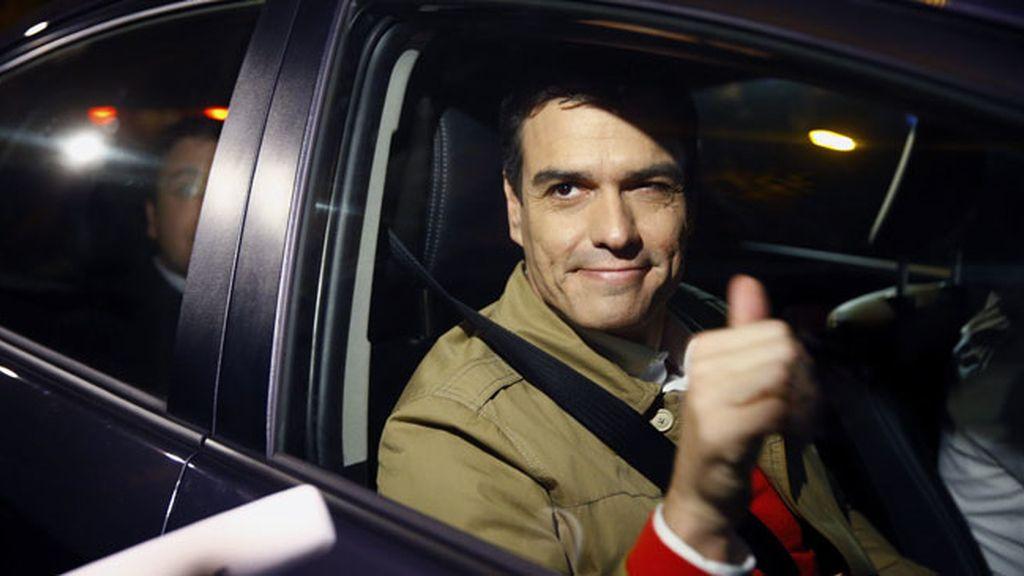 Pedro Sánchez llega a Ferraz