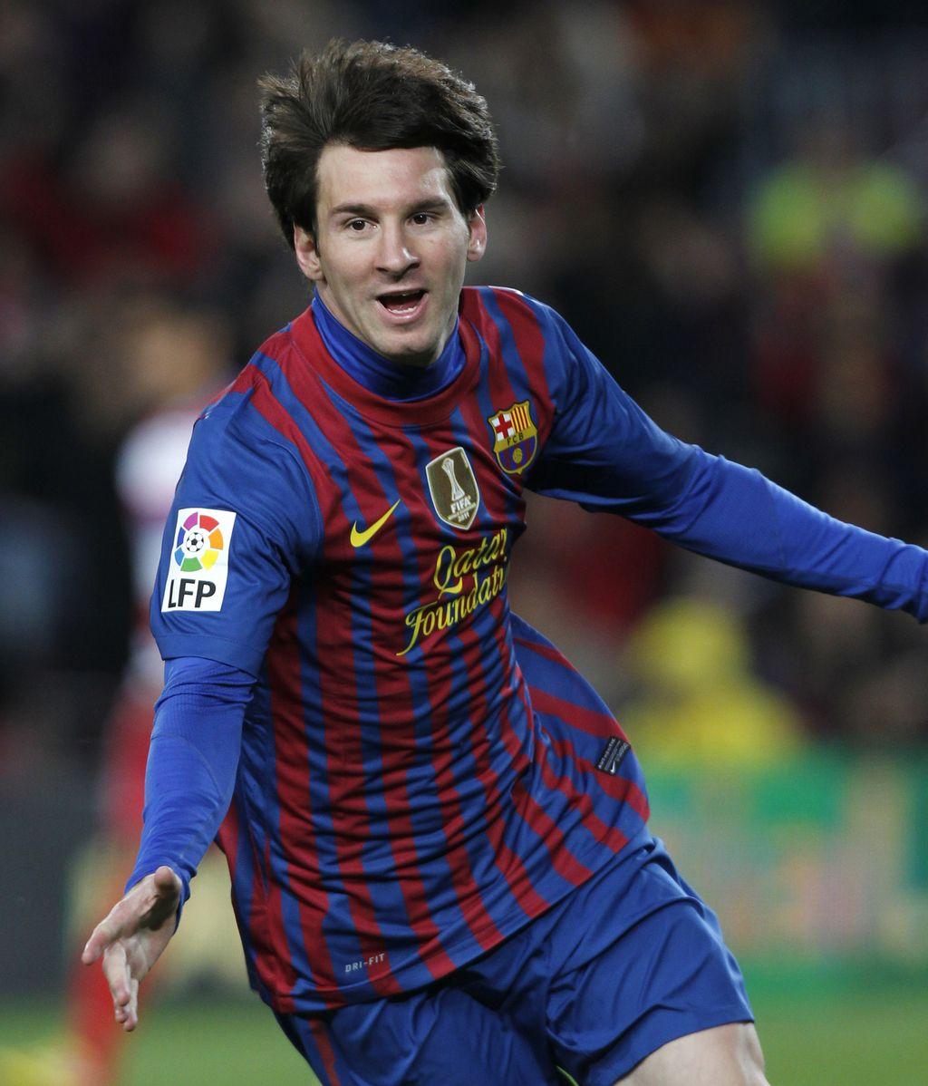 Messi rompe el récord de goles con el Barcelona de César