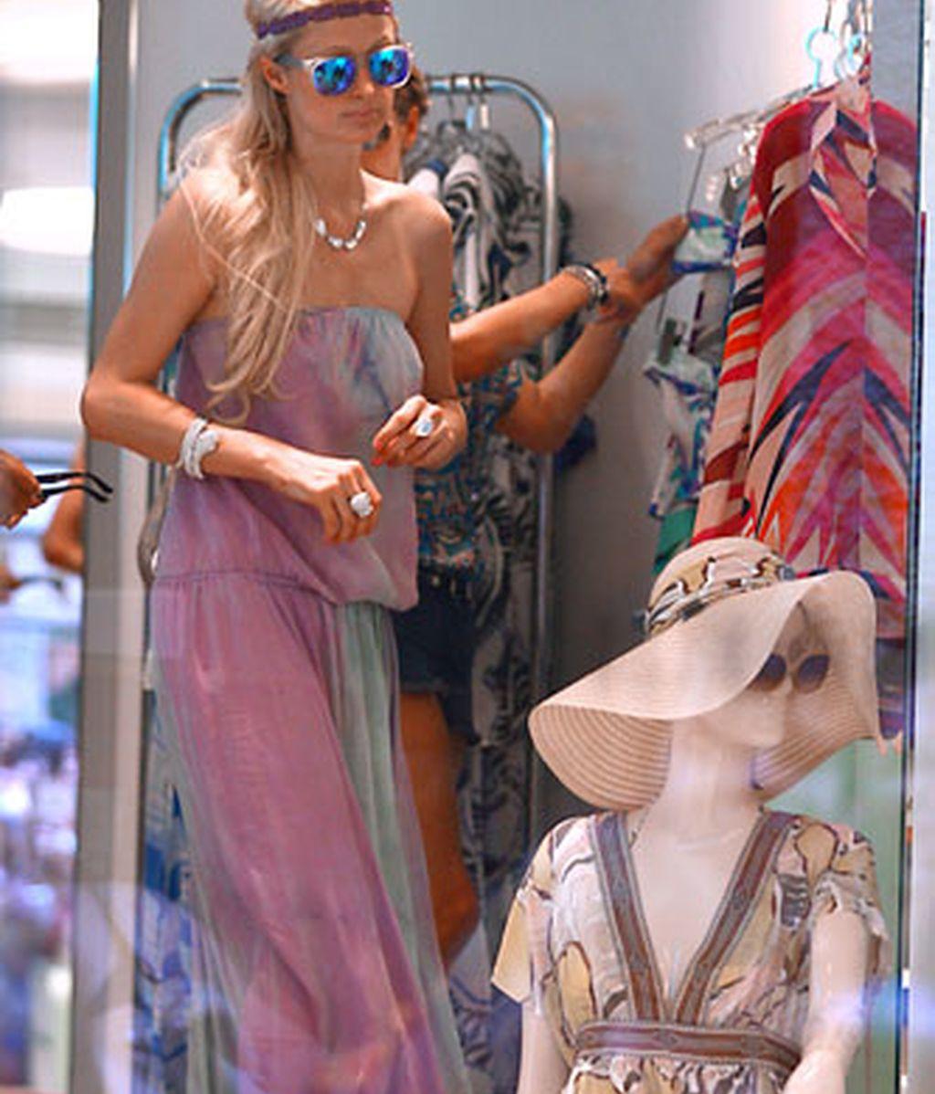 Las hermanas Hilton, de compras en Portofino