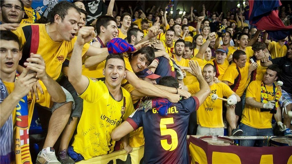 El Barça Alusport gana su tercera liga de fútbol sala consecutiva